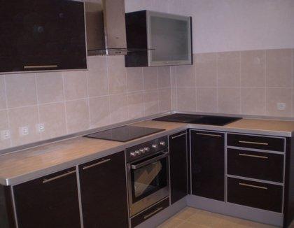 Кухня з дсп в алюмінієвій рамці 108