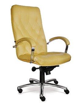 кожаное кресло Cuba steel LE