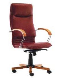 кресло кожаное Nova wood LE