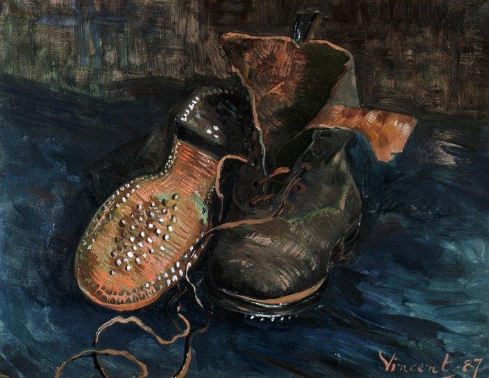 """art0122 """"Натюрморт - башмаки"""", Ван Гог, 1887 г."""
