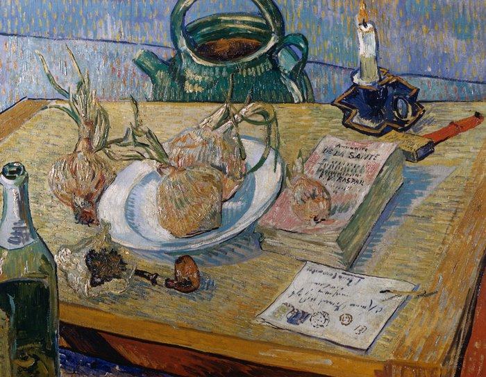 """art0123 """"Натюрморт с луком"""", Ван Гог, 1889 г."""