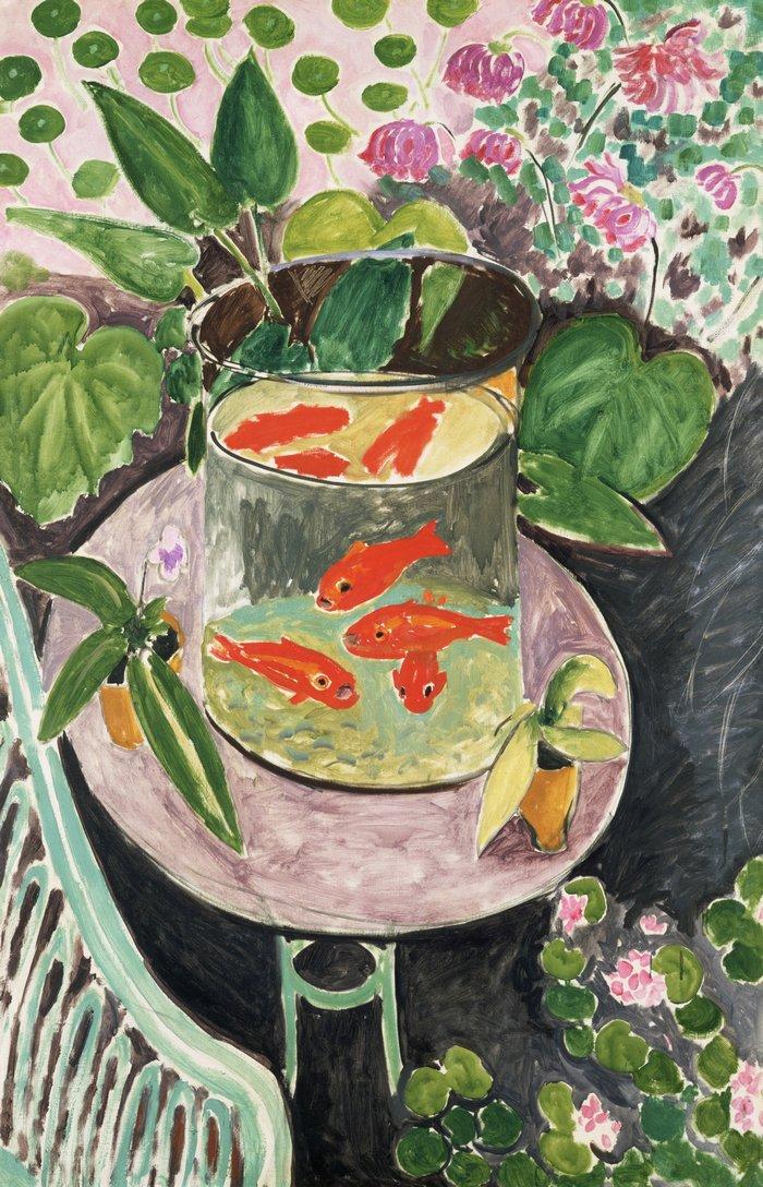 """art0126 """"Красные рыбки"""", Анри Матисс, 1911 г."""