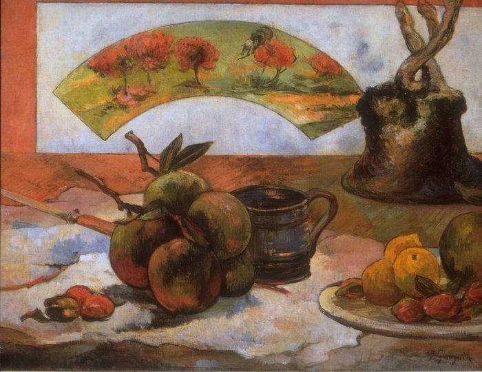 "art0132 ""Натюрморт с веером"", Поль Гоген, 1899 г."